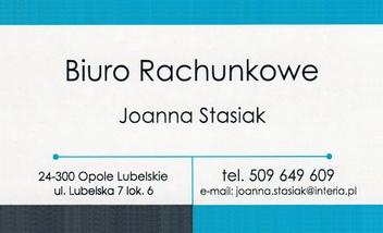 BIURO RACHUNKOWE Joanna Stasiak