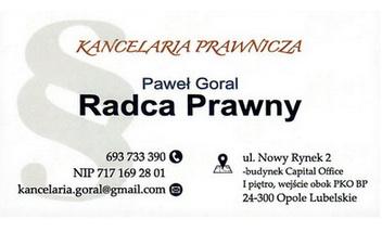 Kancelaria Prawnicza Paweł Goral Radca Prawny