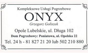 ONYX Usługi pogrzebowe