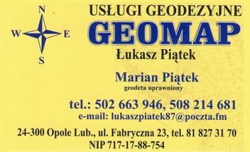 GEOMAP Usługi Geodezyjne