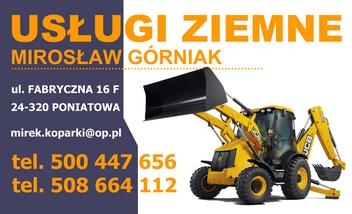 USŁUGI ZIEMNE Mirosław Górniak