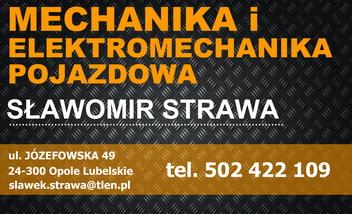 Mechanika i Elektromechanika Pojazdowa Sławomir Strawa