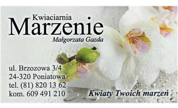 """Kwiaciarnia """"MARZENIE"""" Małgorzata Gazda"""
