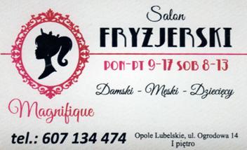 MAGNIFIQUE Salon Fryzjerski