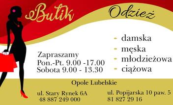 Butik Odzież-bielizna Opole Lubelskie