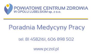 Poradnia Medycyna Pracy PCZ Opole Lubelskie