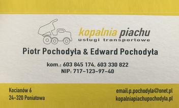 Kopalnia Piachu Usługi Transportowe Piotr-Edward Pochodyła