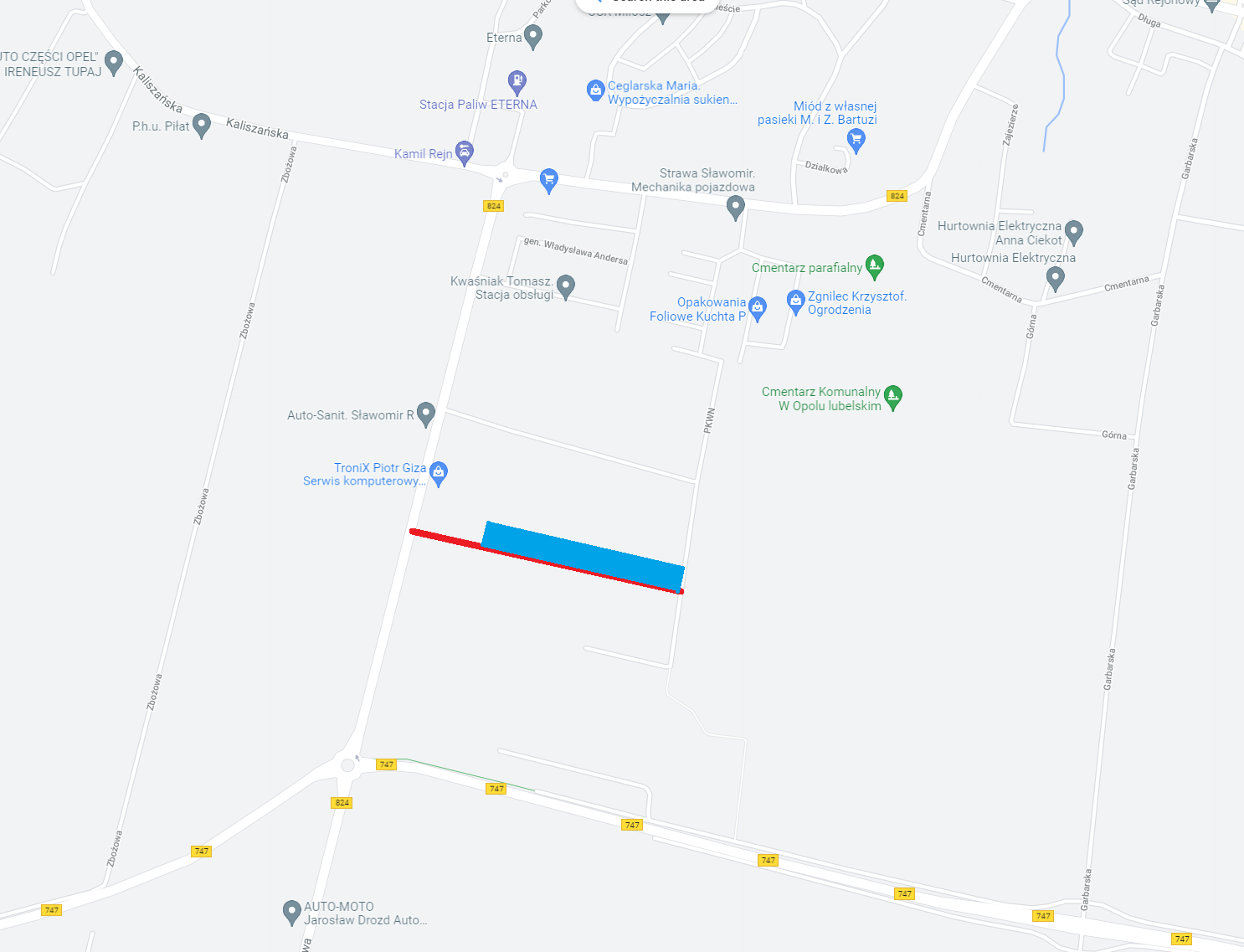 DZIAŁKI BUDOWLANE 10arów Opole Lubelskie